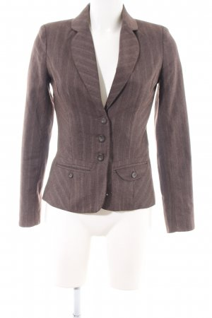 Vero Moda Kurz-Blazer braun Streifenmuster Business-Look
