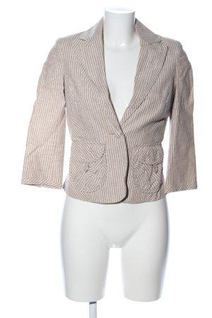 Vero Moda Kurz-Blazer braun-creme Streifenmuster Casual-Look