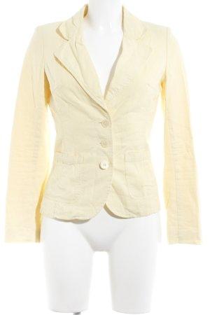 Vero Moda Blazer corto giallo pallido look vintage