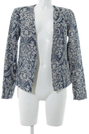 Vero Moda Kurz-Blazer dunkelblau-wollweiß florales Muster extravaganter Stil