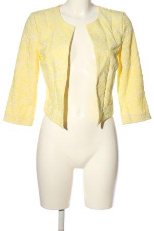 Vero Moda Kurz-Blazer blassgelb-weiß Blumenmuster Casual-Look