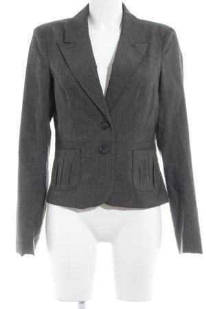 Vero Moda Kurz-Blazer grau-dunkelgrau Webmuster Business-Look