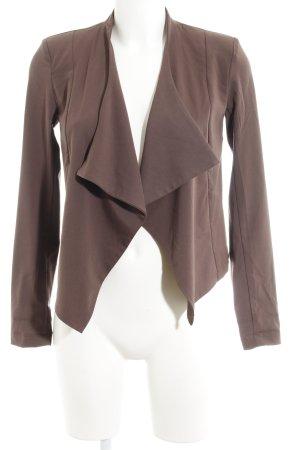Vero Moda Korte blazer grijs-bruin simpele stijl