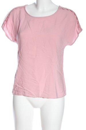 Vero Moda Kurzarm-Bluse pink Casual-Look