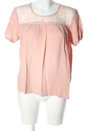 Vero Moda Kurzarm-Bluse nude Elegant
