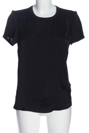 Vero Moda Kurzarm-Bluse schwarz Casual-Look