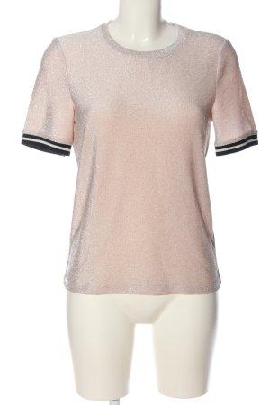 Vero Moda T-Shirt pink-schwarz Casual-Look