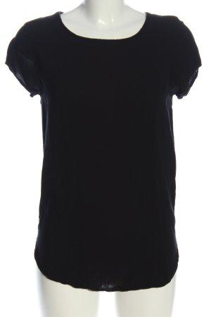 Vero Moda Kurzarm-Bluse schwarz klassischer Stil