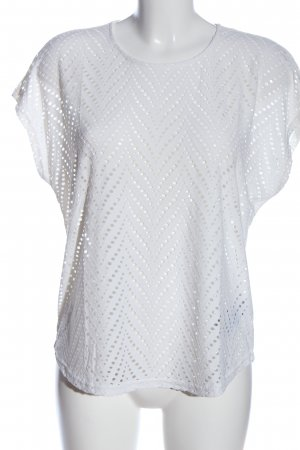 Vero Moda Kurzarm-Bluse weiß Casual-Look