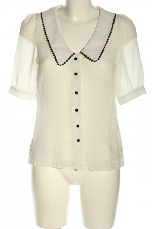 Vero Moda Kurzarm-Bluse weiß-schwarz Business-Look