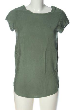 Vero Moda Kurzarm-Bluse khaki Casual-Look