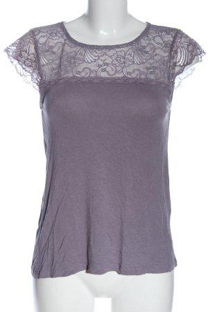 Vero Moda Blouse à manches courtes violet style décontracté