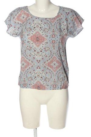 Vero Moda Blouse à manches courtes gris clair-rose imprimé allover