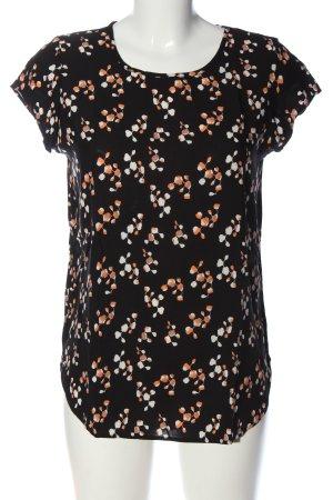 Vero Moda Kurzarm-Bluse abstraktes Muster Casual-Look
