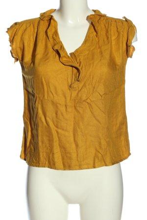 Vero Moda Kurzarm-Bluse blassgelb Casual-Look