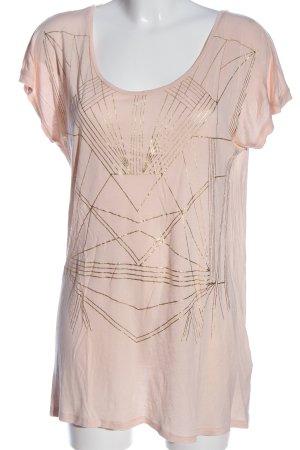 Vero Moda Kurzarm-Bluse pink-goldfarben Casual-Look
