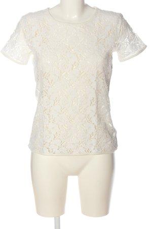 Vero Moda Kurzarm-Bluse weiß Blumenmuster Elegant