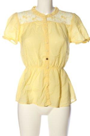 Vero Moda Kurzarmhemd blassgelb Casual-Look