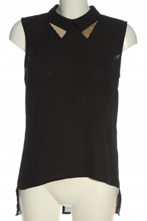 Vero Moda Kurzarmhemd schwarz-goldfarben Casual-Look