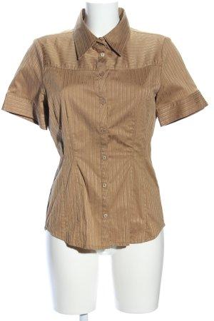 Vero Moda Kurzarmhemd bronzefarben Streifenmuster Business-Look