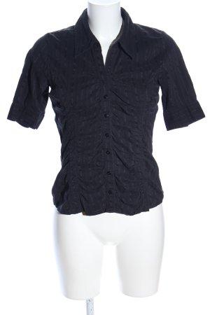 Vero Moda Kurzarmhemd schwarz Streifenmuster Business-Look
