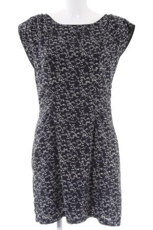 Vero Moda Kurzarmkleid anthrazit-creme abstraktes Muster Elegant