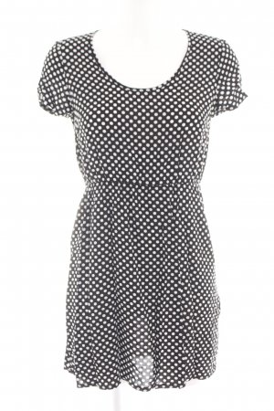 Vero Moda Kurzarmkleid weiß-schwarz Punktemuster Casual-Look
