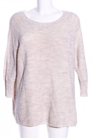 Vero Moda Sweter z krótkim rękawem w kolorze białej wełny Melanżowy