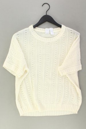 Vero Moda Kurzarmpullover Größe L weiß aus Acryl