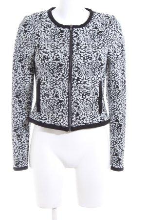 Vero Moda Kurzjacke schwarz-weiß abstraktes Muster Business-Look