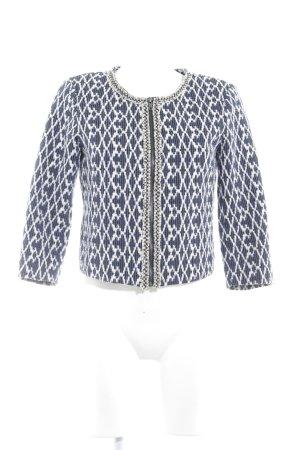 Vero Moda Kurzjacke dunkelblau-weiß abstraktes Muster Business-Look