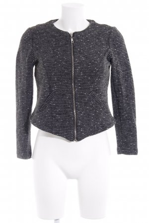 Vero Moda Kurzjacke dunkelgrau-weiß Streifenmuster Casual-Look