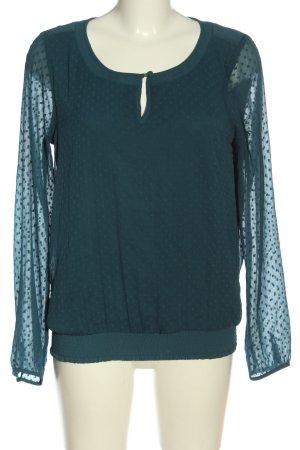 Vero Moda Langarm-Bluse blau Punktemuster Casual-Look
