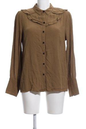 Vero Moda Langarm-Bluse bronzefarben Business-Look