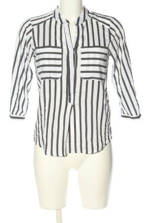 Vero Moda Langarm-Bluse schwarz-weiß Allover-Druck Business-Look
