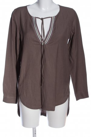 Vero Moda Langarm-Bluse braun Casual-Look