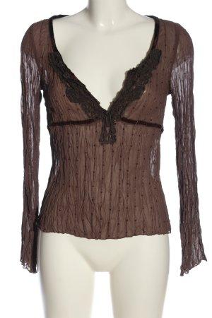 Vero Moda Langarm-Bluse nude-braun Elegant