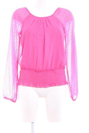 Vero Moda Langarm-Bluse pink Elegant