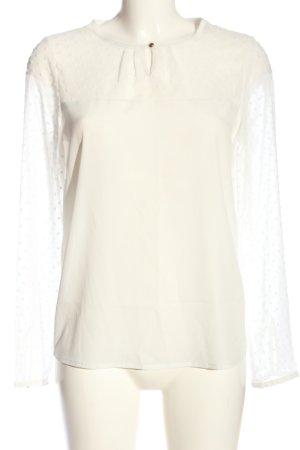 Vero Moda Langarm-Bluse wollweiß-weiß Casual-Look