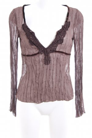 Vero Moda Langarm-Bluse braun-pink Casual-Look