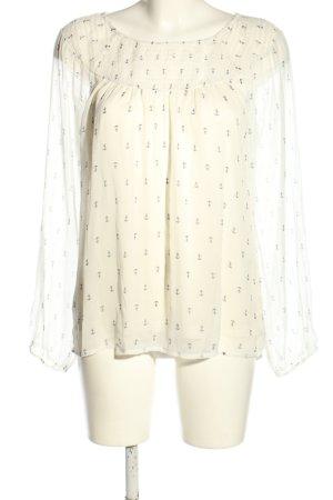 Vero Moda Langarm-Bluse creme klassischer Stil