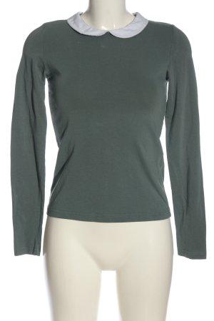 Vero Moda Langarm-Bluse khaki Business-Look