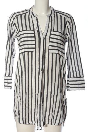 Vero Moda Langarm-Bluse schwarz-weiß Streifenmuster Casual-Look