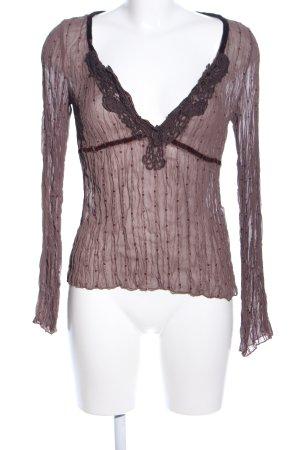 Vero Moda Langarm-Bluse braun Mustermix Casual-Look
