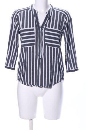 Vero Moda Langarm-Bluse blau-weiß Streifenmuster Business-Look