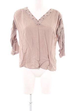 Vero Moda Langarm-Bluse nude Casual-Look