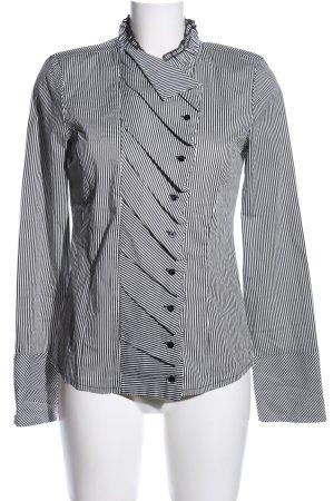 Vero Moda Langarm-Bluse schwarz-weiß Streifenmuster Business-Look