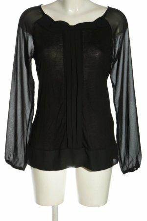 Vero Moda Langarm Bluse aus Viskose schwarz Gr. 38 M