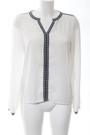 Vero Moda Langarm-Bluse weiß-schwarz Business-Look