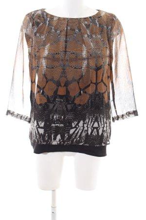 Vero Moda Langarm-Bluse braun-schwarz Casual-Look